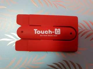 One Touch Silicone Phone Stand With Card Pocket