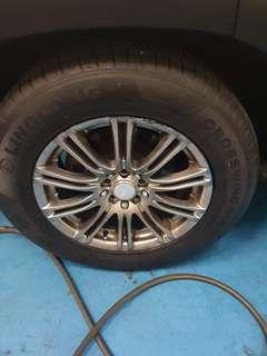 "16"" rims dual pcd 5x114.3 and 5x100 with tyres"