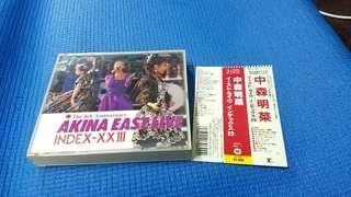 日本本土版  中森明菜  AKINA EAST LIVE  CD2A2 TO   89年MADE IN JAPAN 舊正版碟