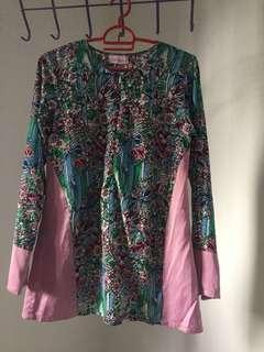 By Fatin Suhana Blouse Top Pink