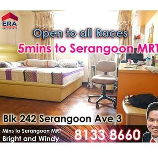 Blk 242 Serangoon 5rm For Rent