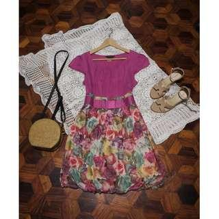 B7s-D94: Floral Dress