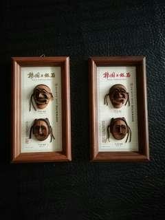 Korean traditional Mask Wall Hangers