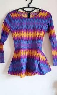 Baju Batik Motif Chefron Zigzag