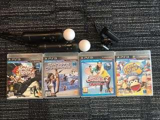 PS3 Move and 4 games