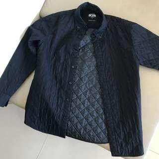🚚 Beams黑菱格紋鋪薄棉襯衫M號