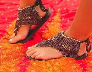 Afrix Black Sandals
