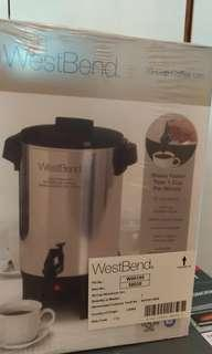 BRAND NEW West Bend Coffee Maker (30 cups)
