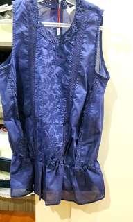 Sale GAP BLUE Sleeveless Lace Top