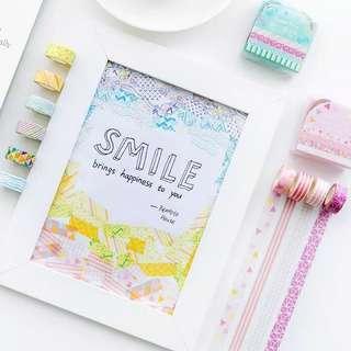 Washi Tape Pink isi 4