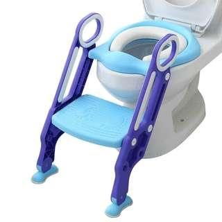 Potty Toilet Trainer Seat with Adjustable Step Stool Ladder