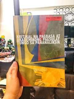 Kritikal na Pagbasa at Akademikong Pagsulat Tungo sa Pananaliksik