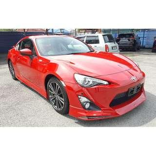 TOYOTA 86 2.0 GT LIMITED MODELLISTA RED (A) OFFER UNREG 2015