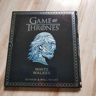 Game of Thrones white walker 3D mask and wall mount