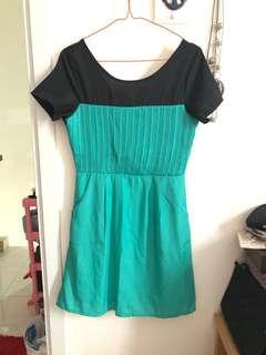 #JAN25 Dress hijau muda / tosca size S-M