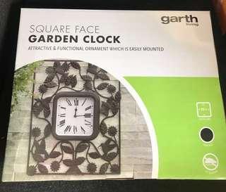 Square Face Garden Clock