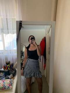 GLASSONS wrap black and white skirt