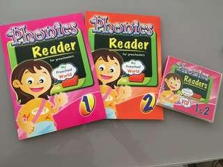 VCD & Phonics Reader Books 1&2