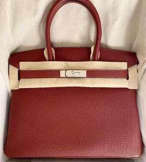 1a8fd3688438 Hermes Birkin 30 - Rouge H