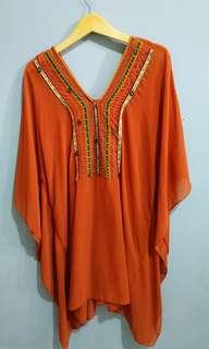 Preloved tunik orange
