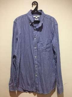 Uniqlo Blue Checkered Long sleeves
