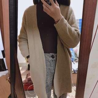 長版厚針織外套