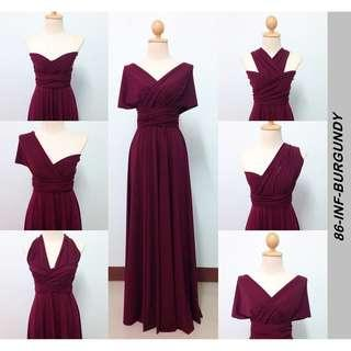 Infinity floor length dress