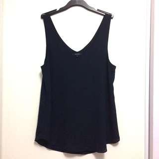 RW&Co Navy Blue Go-To Crepe Cami Blouse