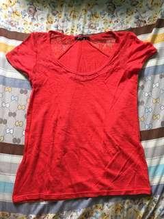 Red shirt from Bershka