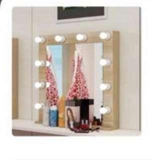 Makeup mirror with LED light
