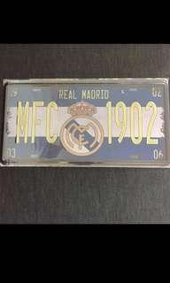 Sale 🌟 BN MFC Real Madrid Tin Sign 15x30cm carplate car plate