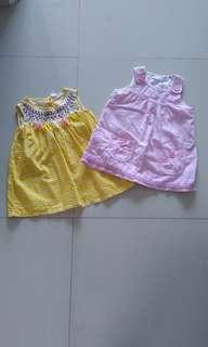 Set of 2 dresses for 1-2 yrs old
