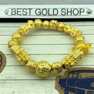 🚚 999 gold pixiu bracelet