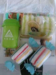 可愛毛巾蛋糕、毛巾糖果造型擺設 +精美外携毛巾/濕紙巾筒