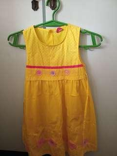 REPRICED Yellow Dress with Flower