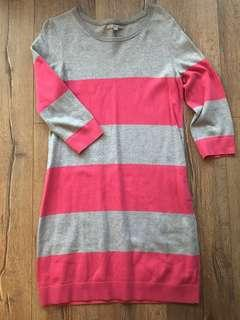 Gap Pink + Grey Sweater Dress - M