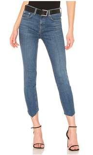 Rag and Bone High Rise Asymmetric Skinny Jeans