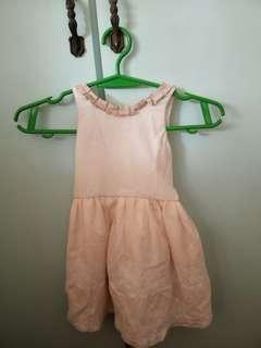 REPRICED Light pink dress with ribbon