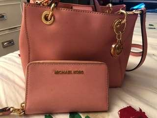 Gently used Mk bag and with matching wallet