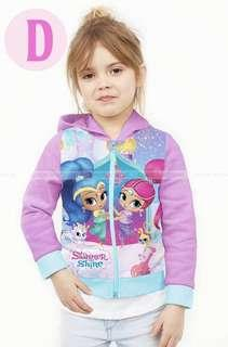 🚚 Kid's jacket Elsa Mickey Mouse shimmer and shine Super wing jacket