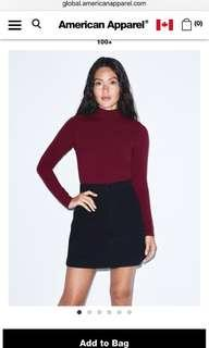 American Apparel Maroon Turtleneck