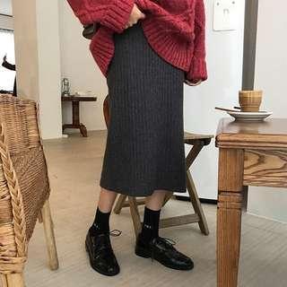 🚚 高腰顯瘦針織裙