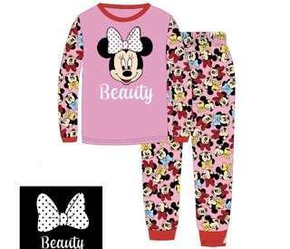 🚚 Kid's Pyjamas set glow in the dark Minnie Mouse hello kitty LOL Peppa pig pyjamas set