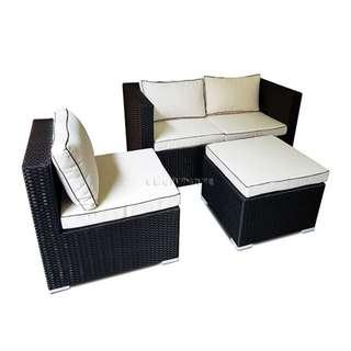 CALLA 4 PIECE SOFA SET WITH CUSHIONS