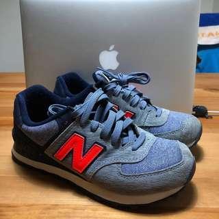 New Balance 574 running shoes 藍色牛仔布