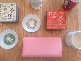 🚚 新款韓版長版皮夾錢包(粉紅色)