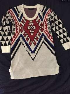 Mink Pink Aztec 3/4 sleeve knit jumper