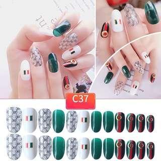 Korean 24pcs  Fake Nails with Glue