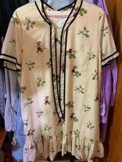 🚚 短袖雪紡碎花洋裝#一百均價
