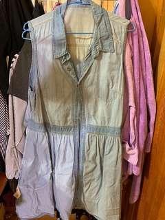 🚚 無袖丹寧洋裝#一百均價